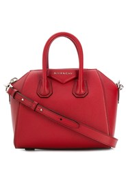 Givenchy Logo Plaque Tote Bag Red