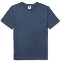 Nn.07 Nn07 Barry Slim Fit Slub Cotton Blend Jersey T Shirt Storm Blue