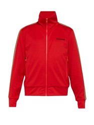 Burberry Icon Striped Zip Through Track Jacket Red