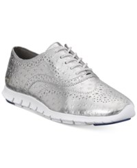 Cole Haan Zerogrand Wing Oxford Sneakers Women's Shoes Silver