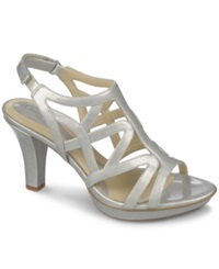Naturalizer Danya Evening Sandals Women's Shoes Silver Crosshatch