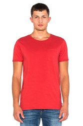 Scotch And Soda Pocket Tee Red
