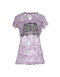 Custo Barcelona Topwear T Shirts Women Purple