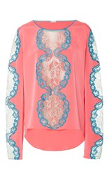Alexis Mabille Lace Detailed Blouse Pink