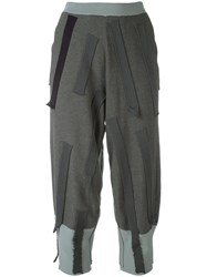 Boboutic Patch Cropped Trousers Grey