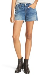 Rag And Bone Women's Jean Boyfriend Cutoff Denim Shorts