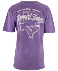 Pressbox Women's Texas Christian Horned Frogs Elly May Big V Neck T Shirt Purple