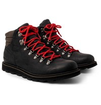 Sorel Madson Hiker Waterproof Leather And Rubber Trimmed Nubuck Boots Black