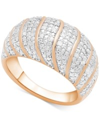Victoria Townsend Diamond Dome Statement Ring 1 4 Ct. T.W. In 18K Gold Plated Sterling Silver Rose Gold