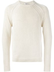 Valentino Crew Neck Sweater Nude And Neutrals
