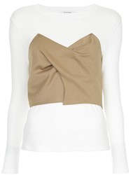 Guild Prime Crop Top Layered Top White