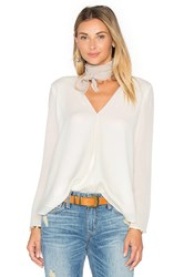 Heather Silk Double Layer Top Ivory