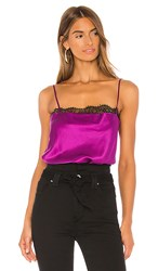 Cami Nyc The Romy Bodysuit In Purple. Dragonfruit
