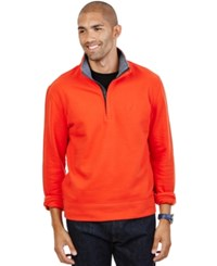 Nautica Quarter Zip Front Fleece Orange