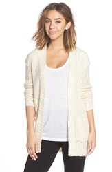 Make Model Open Knit Long Cardigan Ivory Pristine