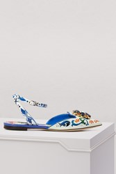 Dolce And Gabbana Bellucini Sling Back Multi