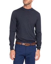 Berluti Wool Crewneck Sweater Navy Blue