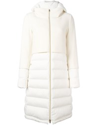 Herno Quilted Padded Coat White