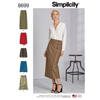 Simplicity Vintage Skirts With Length Sewing Pattern 8699