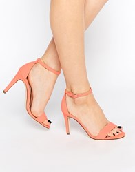 Call It Spring Waylanda Pink Two Part Heeled Sandals Pink
