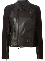 Dkny Moto Leather Jacket Black