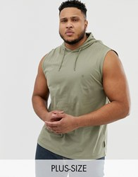 French Connection Plus Sleeveless Hoodie Green