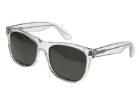 Super Basic Crystal Black Lens Fashion Sunglasses Clear