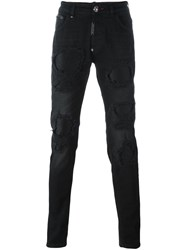 Philipp Plein 'Each Other' Skinny Jeans Black