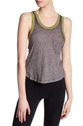 Free People Axl Racerback Burnout Tank Gray