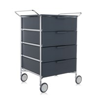 Kartell Mobil 4 Drawer Handles And Wheels Opaque Slate