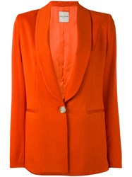Each X Other Tailored Blazer Women Acetate Viscose M Yellow Orange
