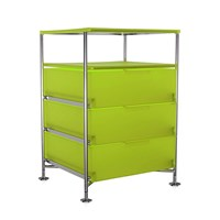 Kartell Mobil 3 Drawer Tray Citron Yellow