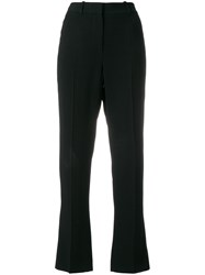 Givenchy High Waisted Tailored Trousers Viscose Spandex Elastane Acetate Silk Black