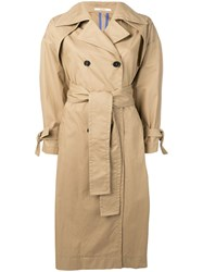 Odeeh Belted Trench Coat Neutrals
