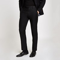 River Island Black Slim Fit Suit Trousers