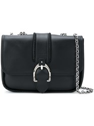 Longchamp Foldover Buckle Shoulder Bag Black