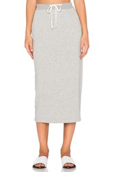 James Perse Fleece Pencil Skirt Gray