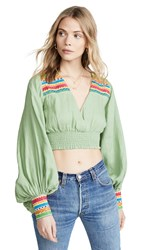 All Things Mochi Cora Top Green