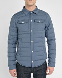 Pyrenex Blue Marine Marcel Press Studs Pockets Light Down Jacket