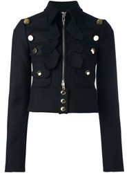 Givenchy Cropped Military Jacket Black