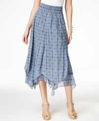 Styleandco. Style And Co. Printed Handkerchief Hem Skirt Only At Macy's Geo Bazaar