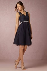 Anthropologie Lina Wedding Guest Dress Navy