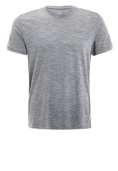 Icebreaker Tech T Lite Sports Shirt Gritstone Heather Grey