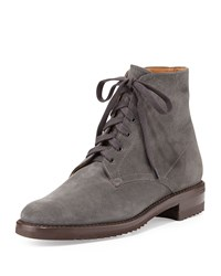 Suede Lace Up Bootie Gravati Gray
