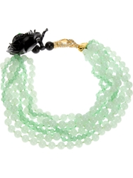 Katerina Psoma Multi Strand Agate Necklace Green