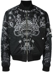 Givenchy Tattoo Print Bomber Jacket Black