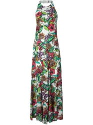 Marco Bologna Flower Print Halter Dress White