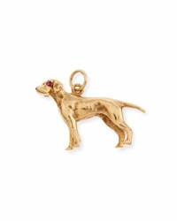 Turner And Tatler 14K Pointer Dog Charm With Rubies