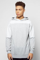 Boohoo Oversized Hoodie With Reverse Panels Grey