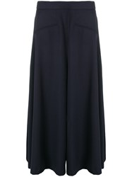 Alexander Mcqueen Cropped Tailored Trousers Blue